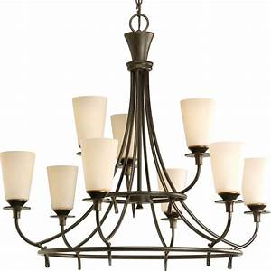 Progress lighting cantata collection light forged bronze