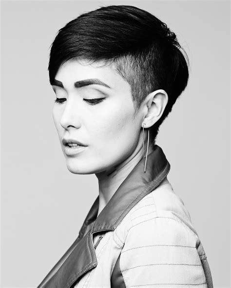portrait   undercut short hair cable car couture