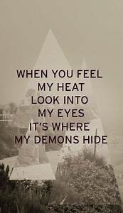 Imagine Dragons, Demons lyrics | Great Lyrics | Pinterest