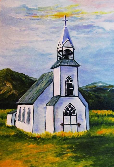 Old Church Painting By Sheri Marean