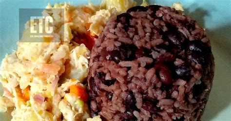 arroz de caraotas  coco el toque colombiano