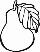 Fruit Coloring Pear Printable sketch template