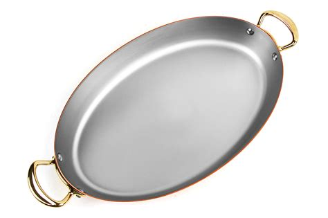 mauviel mheritage  copper oval pan  cutlery
