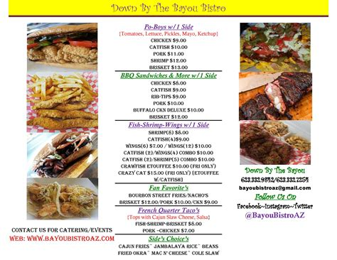 by the bayou bistro food truck feeds