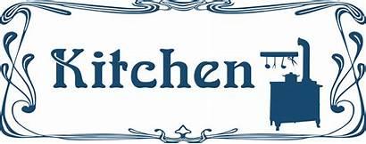 Kitchen Sign Clip Clipart Door Production Border
