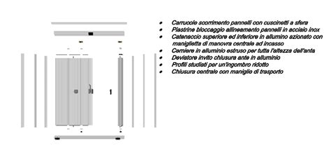 persiane pieghevoli ante a pacchetto minipack gt md alluminio