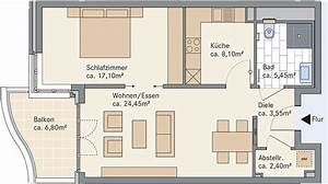 Grundriss Wohnung Erstellen : grundriss 45 qm wohnung ~ Lizthompson.info Haus und Dekorationen