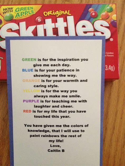 Teacher Retirement Candy Poem