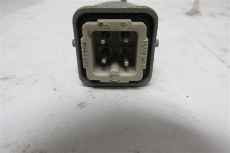 harting han   industrial  pin connector whousing male