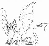 Toothless Coloring Pages Dragon sketch template