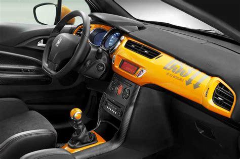 int 233 rieur de citro 235 n ds3 racing noir obsidien et orange distinctive series