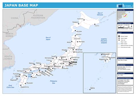 large detailed base map  japan japan asia mapsland
