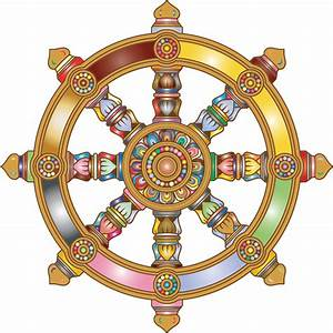 Clipart - Prismatic Ornate Dharma Wheel 2