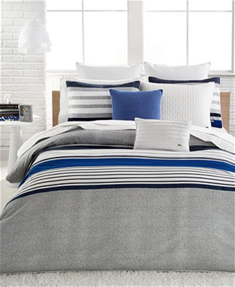 lacoste auckland blue comforter sets bedding collections bed bath macy s