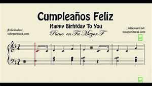 Cumpleaños Feliz Partitura Fácil de Piano en Fa Mayor Happy Birthday YouTube