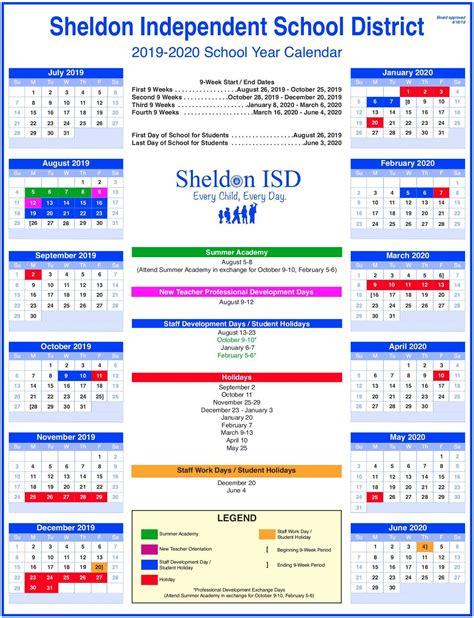 overview sheldon isd school year calendars sheldon isd