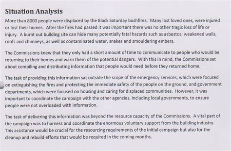 situational analysis template recognising the dangers of burnt out building uts library of technology sydney