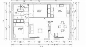 plan maison plain pied 80m2 2 chambres bricolage maison With plan maison plain pied 80m2