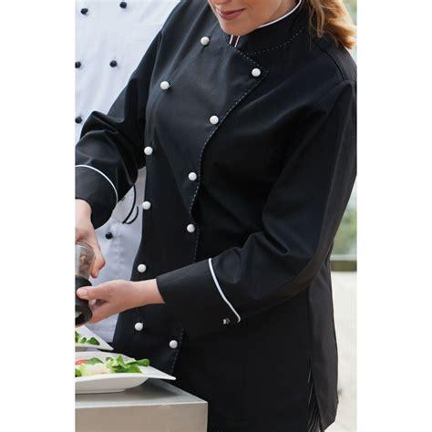 veste chef de cuisine pour femmes manches longues