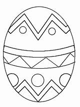Easter Egg Coloring sketch template