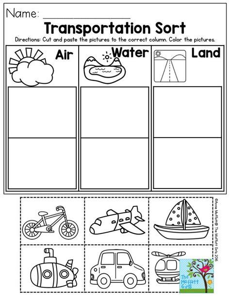 Transportation Sort Air, Water Or Land? Perfect For Preschool!  Best Of Preschool Pinterest