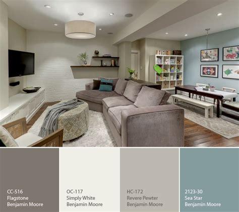 benjamin color palette for a basement favorite