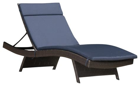 chaise navy lakeport outdoor wicker adjustable chaise lounge with navy
