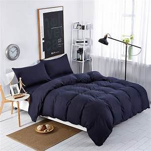 Home, Textiles, Navy, Blue, Solid, Color, Bedding, Sets, Bedspread, King, Queen, Full, Size, Of, Comforter