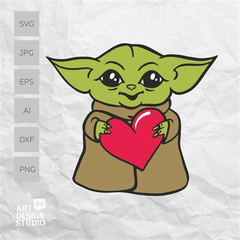 You can import these files to a number of cutting machine software programs, including cricut design space, silhouette studio, and brother scanncut. Baby Yoda svg Baby Yoda with a heart SVG Mandalorian Baby ...