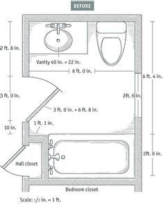 8×5 Bathroom Floor Plans