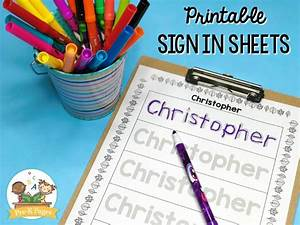 Attendance Chart For Preschool Editable Sign In Sheets Pre K Pages
