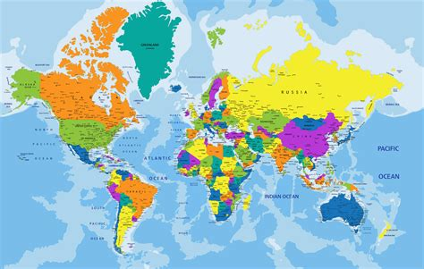 in the world world map