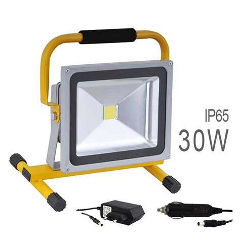 le de chantier led projecteur led cob 30w sans fil batterie rechargeable 224 petit prix