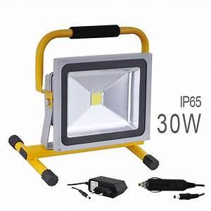 Projecteur De Chantier Led : projecteur led cob 30w sans fil batterie rechargeable ~ Edinachiropracticcenter.com Idées de Décoration