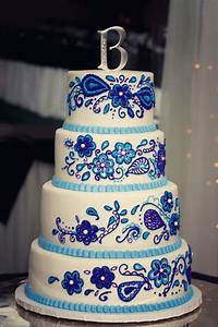 Purple and royal blue wedding cake | Our Wedding ...