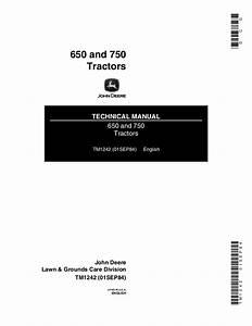 John Deere 650 Tractor Service Repair Manual