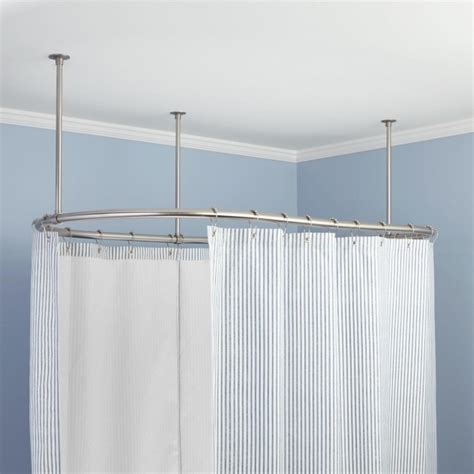 oval shower curtain rod for clawfoot tub bathtub designs