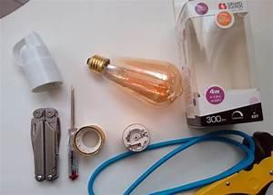 creer une lampe vintage avec une ampoule led filament e With carrelage adhesif salle de bain avec ampoule led filament globe
