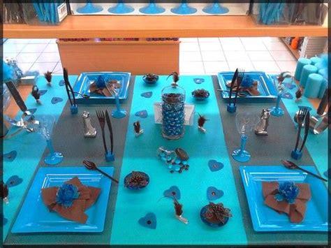 deco table anniversaire 1 an table de f 234 te bleu turquoise et marron chocolat id 233 al pour un mariage un bapt 234 me ou un