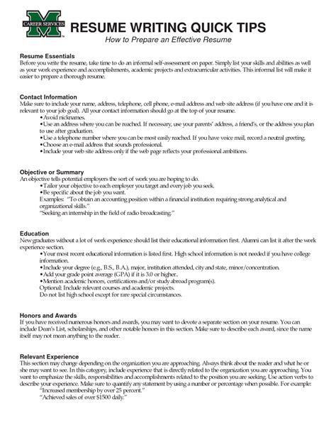 tips effective resume writing loseyourlovewriting  resume