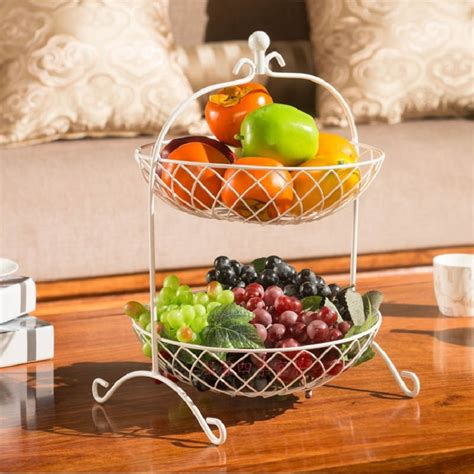 fruit basket bandeja kitchen storage rack fruit pots dish