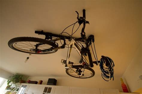 Ceiling Bike Rack Diy by Fancy Horizontal Bike Hoist By Floaterhoist