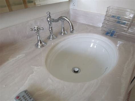 cultured marble countertop with kohler undermount sinks