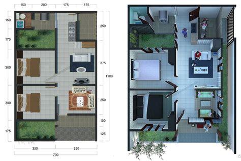 denah rumah sederhana  lantai  desain denah rumah