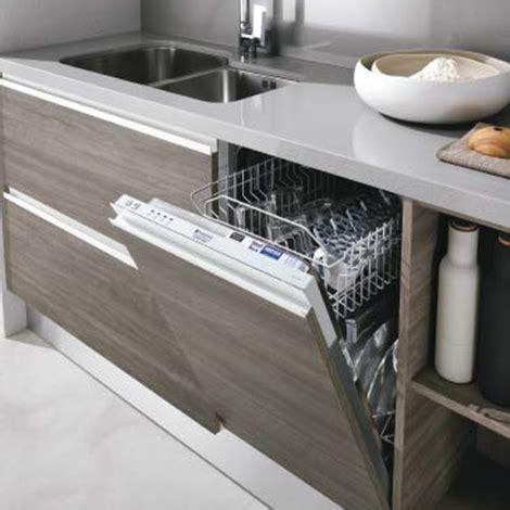 lavello sottotop cucina moderna con dispense e lavello integrato inox