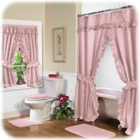 best shower curtain bathroom pink swag shower curtain with valance