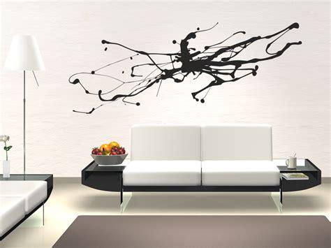 Farbspritzer An Der Wand by Wandtattoo Abstrakte Kunst Moderner Tintenfleck