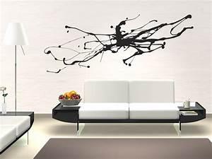 Tattoos Für Die Wand : wandtattoo abstrakte kunst moderner tintenfleck ~ Articles-book.com Haus und Dekorationen