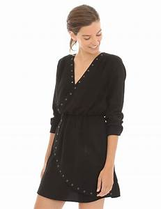 la mode des robes de france robe fluide noire cache coeur With robe cache coeur fluide