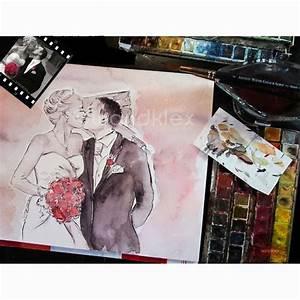 Bild Malen Lassen : hochzeitsfotos sind toll doch danach dann ein pers nliches bild malen zu lassen setzt dem ~ Orissabook.com Haus und Dekorationen